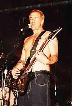 Brad on stage playin guitar