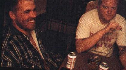 Brad and Eric drinking and toking