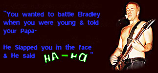 Lyrics from Battle Bradley Dub