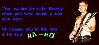 Lyrics from Battle Bradley Dub