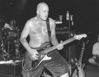 Bald Brad jammin on stage