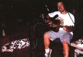Brad playing guitar