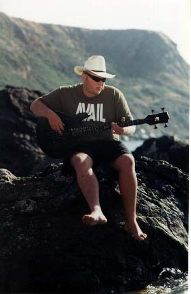 Eric On a Rock Playin Bass