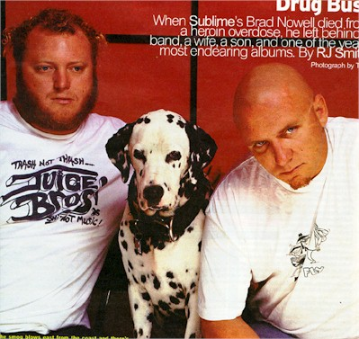Eric, Lou, and Bud mourning the death of Sublime