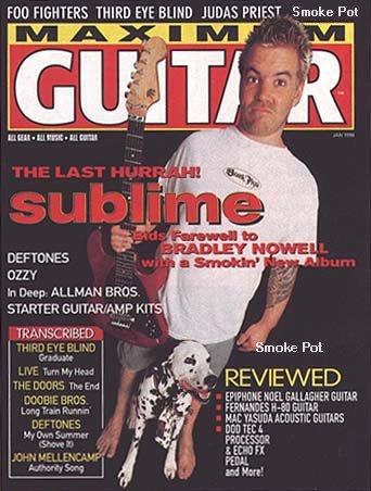 Brad on tha cover of Guitar Magazine
